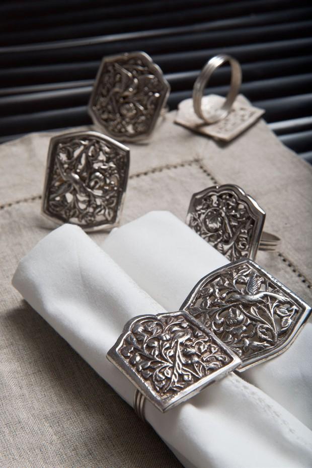 Set of 6- Filigree Napkin Rings