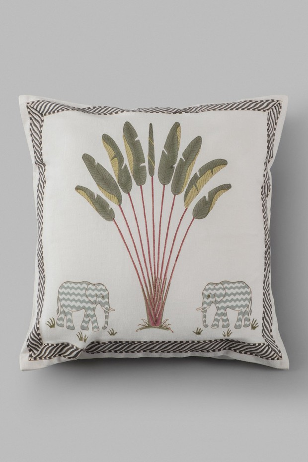 Periyar Palm Cotton Cushion
