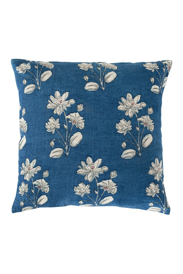 Neelanjana Buti Linen Cushion