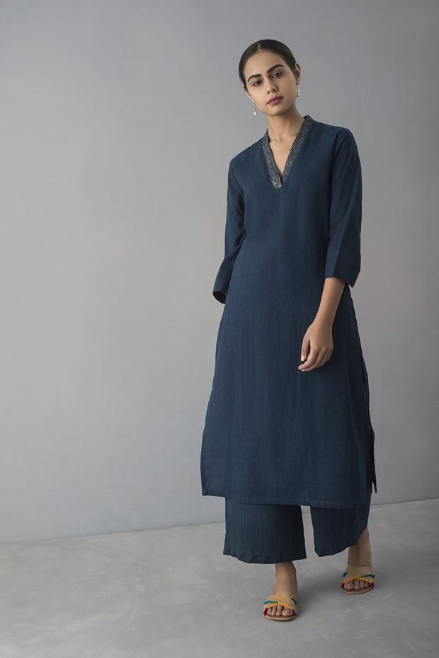 Rozana Rabari Cotton Pyjama (Indigo)