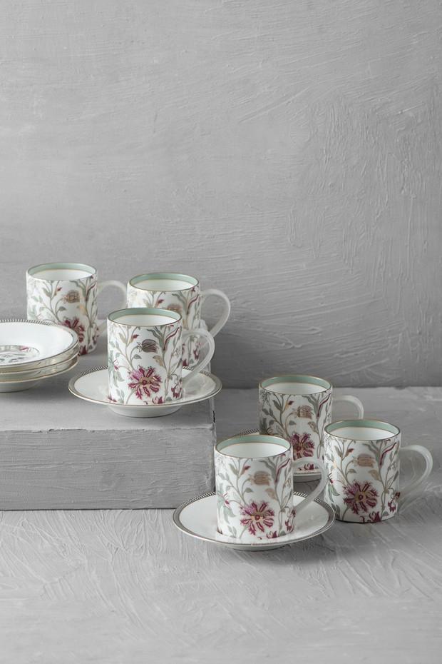 Set of 6- Nishaat Demitasse Cup Saucer