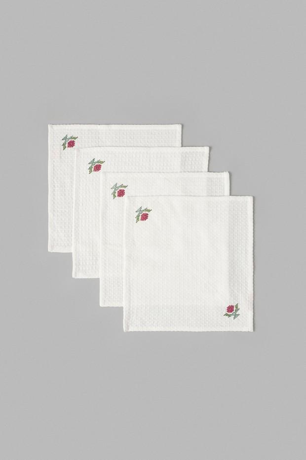 Set of 4- Gul Fiza Waffle Face Towel