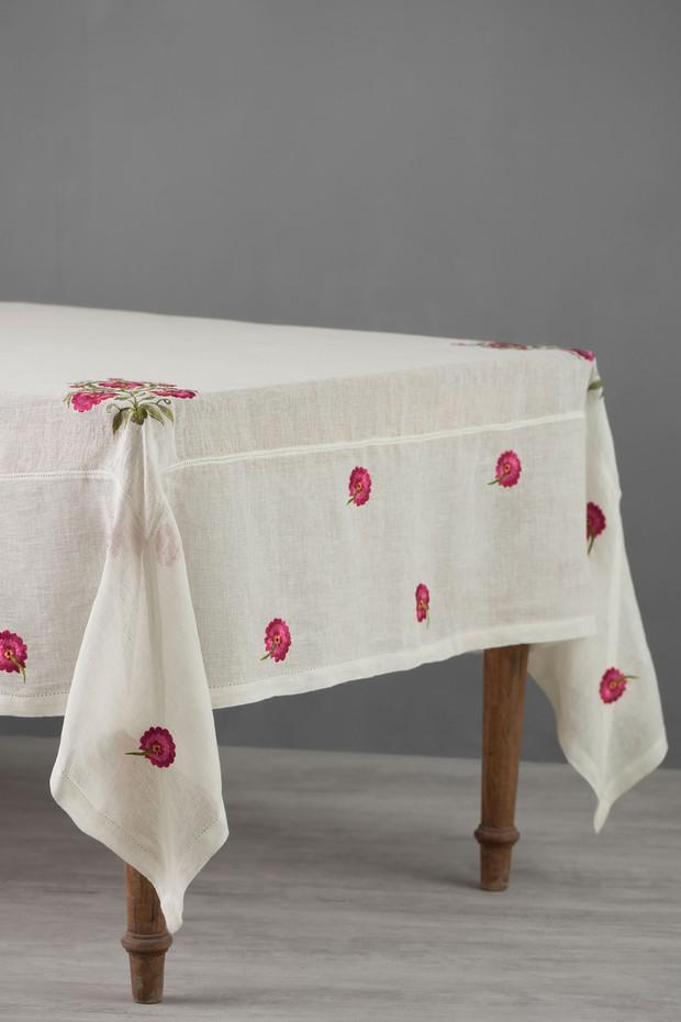 Kokand Linen Table Cloth (Ivory)