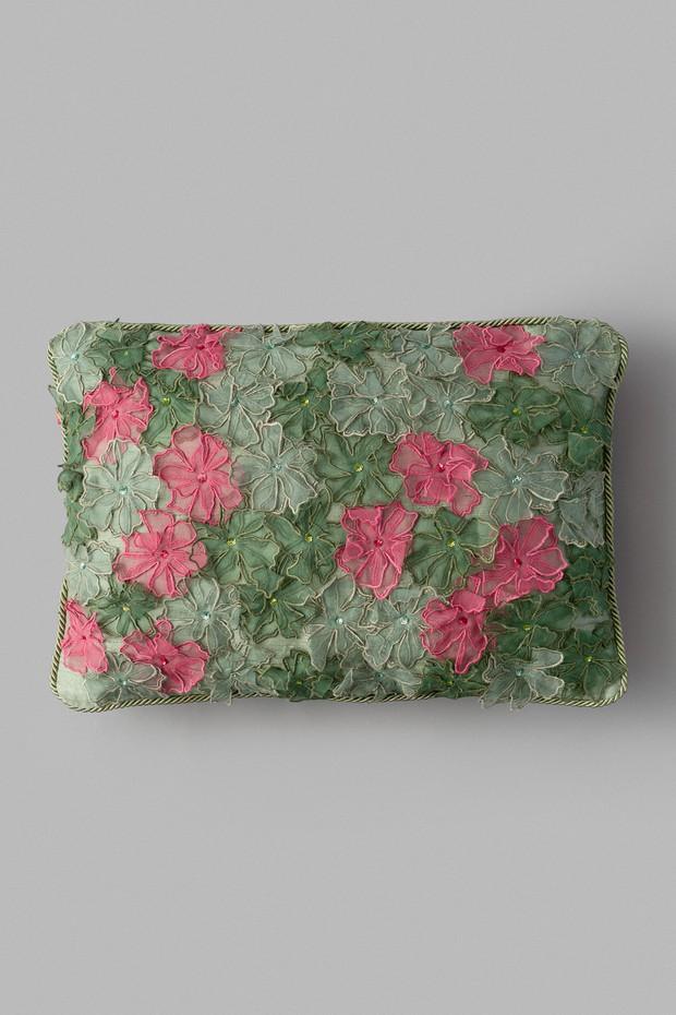 Anemone Bloom Silk Cushion