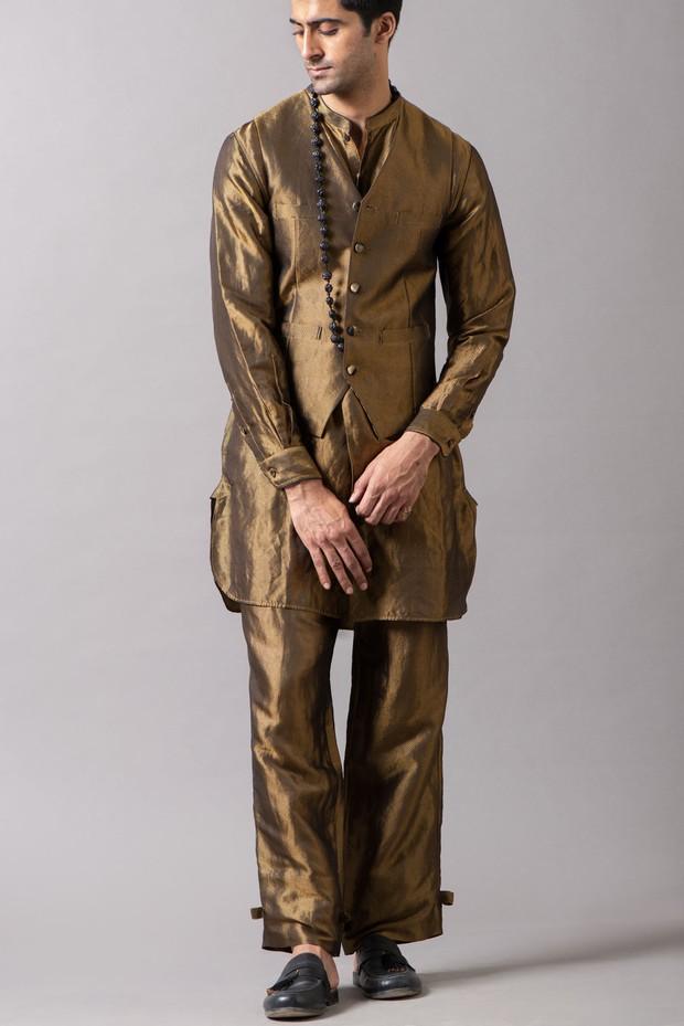 Marrakech Wide Leg Brocade Pant