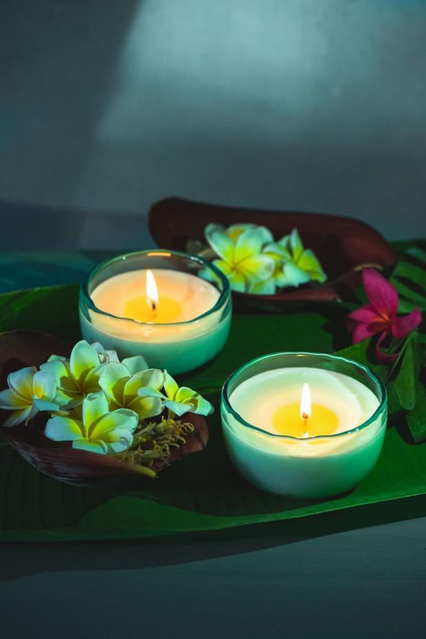 Set of 2- Darya Glass Candle