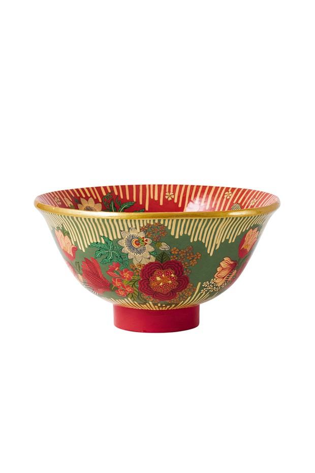 Floare Hand Painted Bowl (Cinnabar)