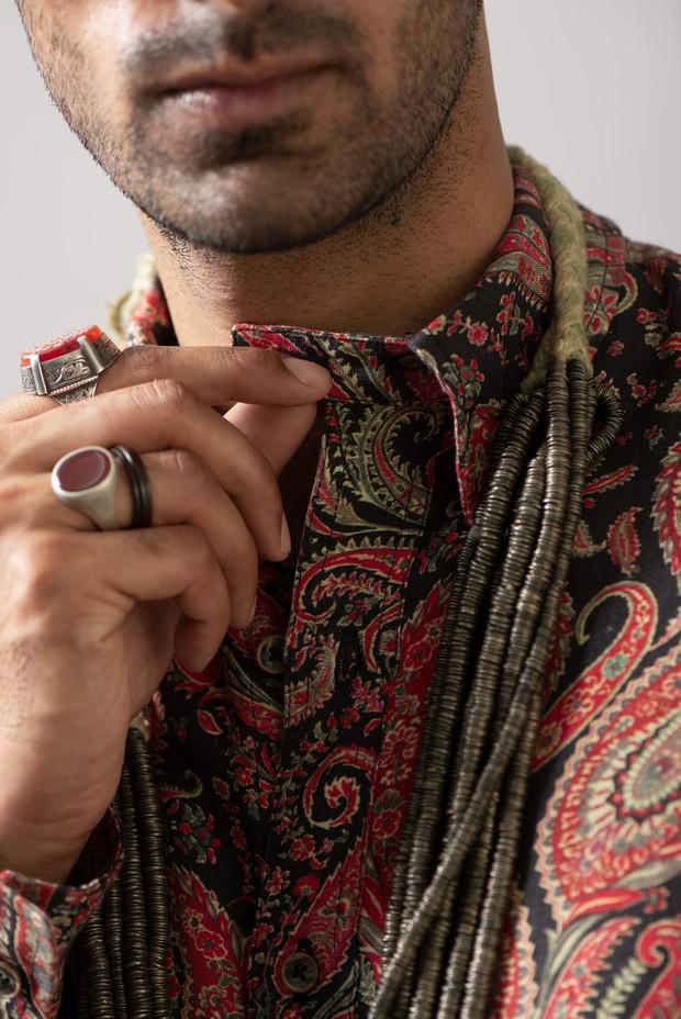 Marrakech Safari Linen Shirt (Siyahi)