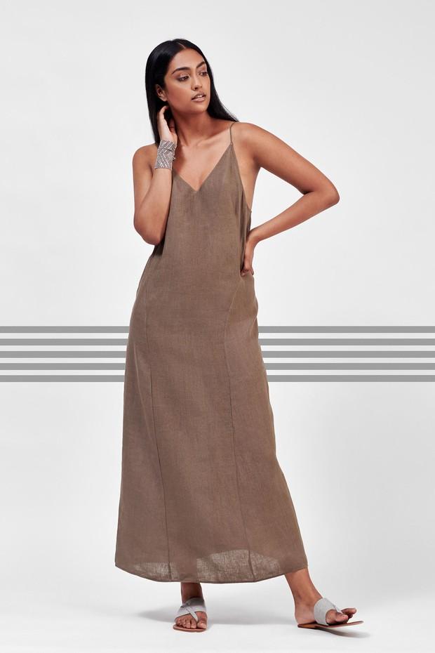 Flow Strap Linen Dress (Sufa)