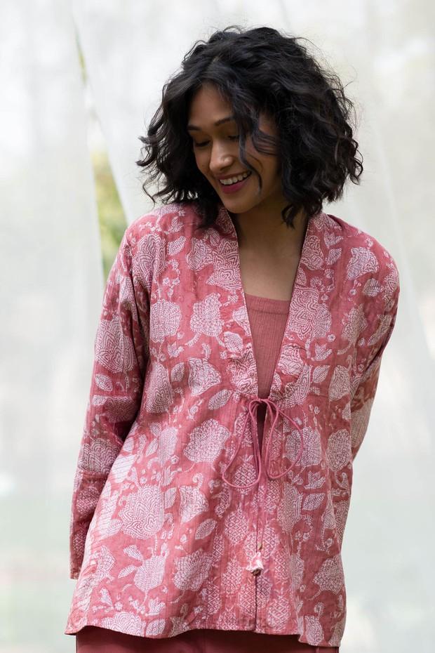 Masakali Rozana Bedouin Short Silk Modal Overlay