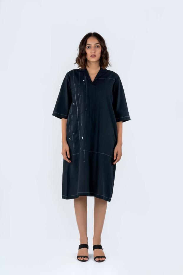 Soham Dave Shadow Dress (Black)
