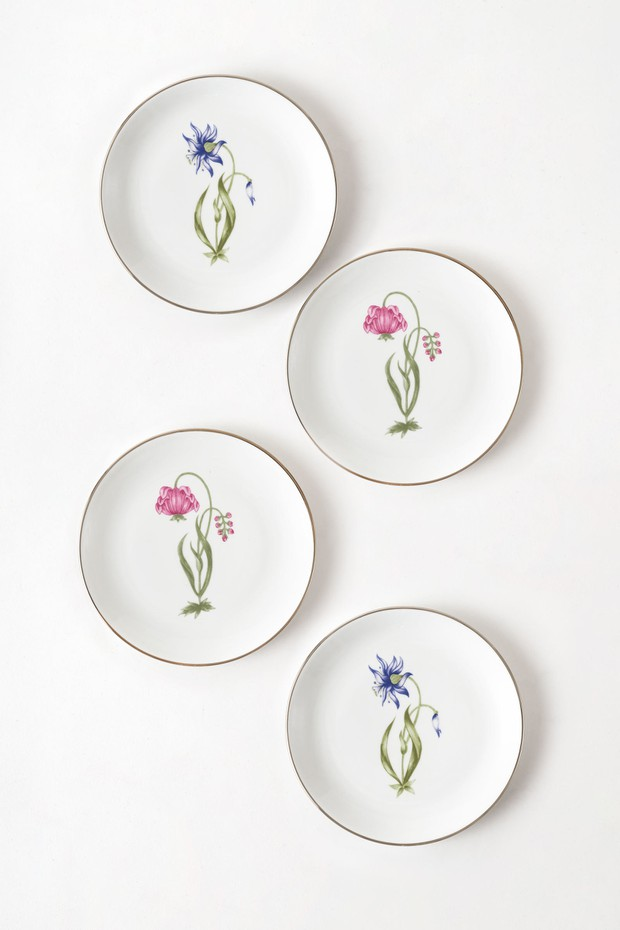 Set of 4- Shiraz Buta Side Plate