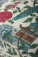 Peacock Garden Linen Table Cloth